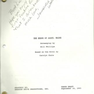 BEANS OF EGYPT: Maine Original Script  1