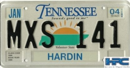 THE BLIND SIDE: TENN. METAL LICENSE PLATE