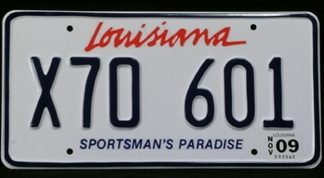 THE BLIND SIDE: LOUISIANA LICENSE PLATES    1