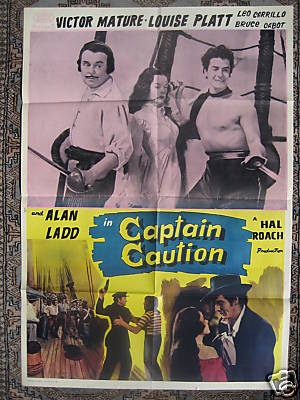 1940 VINTAGE POSTER: CAPTAIN CAUTION