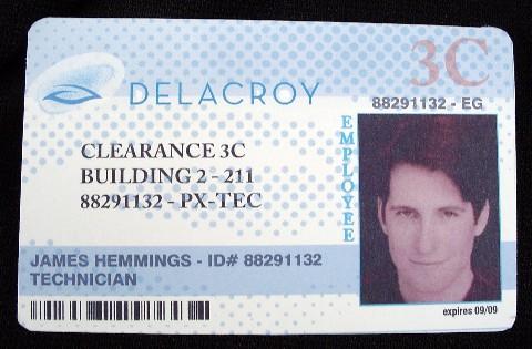 MAN OF THE YEAR: Hemmings Delacroy ID Card 1