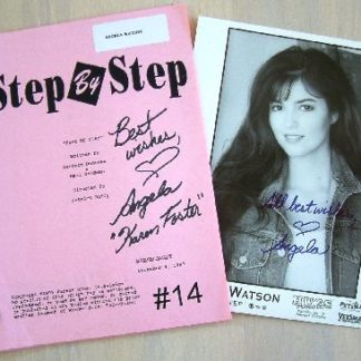 STEP BY STEP: Karen Forster Autograph Script & Pic  1