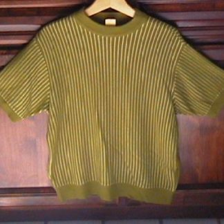 CAT IN THE HAT: GREEN SHORT SLEEVE SWEATER