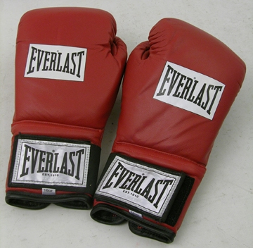 EVEN MONEY: RED BOXING GLOVES