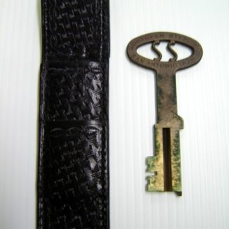 LIFE OF DAVID GALE: Prison Cell Key & Leather Case