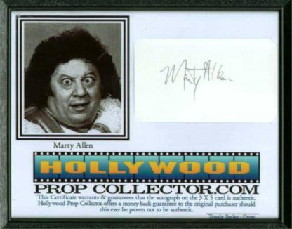 MARTY ALLEN: Framed