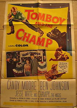 1961 VINTAGE POSTER: TOMBOY AND THE CHAMP