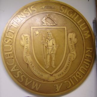 EULOGY: Massachusetts Courthouse Gold Seal Sign 1