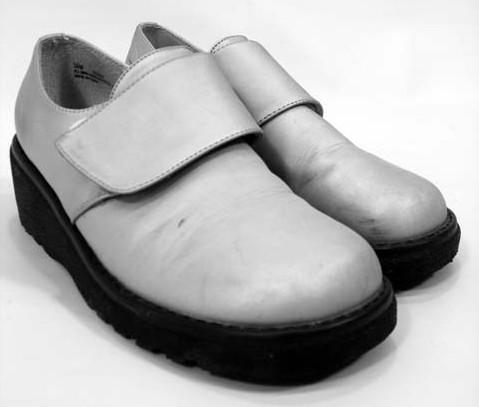 SPY KIDS: Robot Kids Shiny Silver Shoes 1