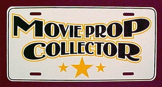 MOVIE PROP COLLECTOR LICENSE PLATE