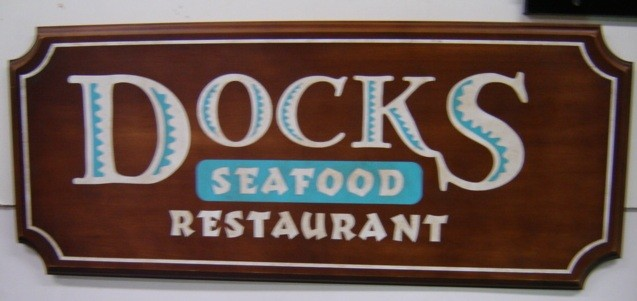 EULOGY: Docks Seafood Restaurant Wooden SIgn
