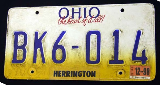 THE FACULTY: Dirty Student License Plate