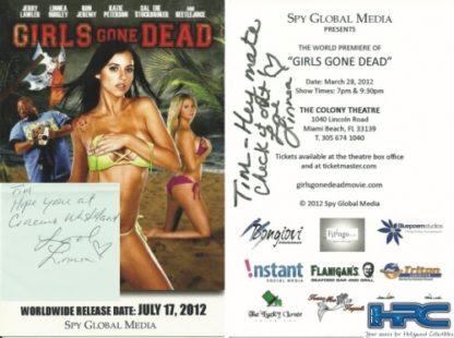 "Linnea Quigley Signed ""Girls Gone Dead"" Movie Card"